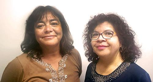 Ana Cuadra y Virginia Cartes, del Colegio William Taylor de Alto Hospicio.